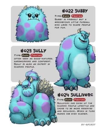 161 Artista recria vários personagens da Disney como evolução Pokémon!