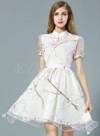 Dresses | Skater Dresses | Mesh Short Sleeve Aline Summer ...