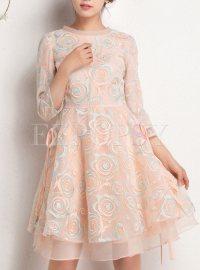 Dresses | Skater Dresses | Summer Aline Embroidered Dress