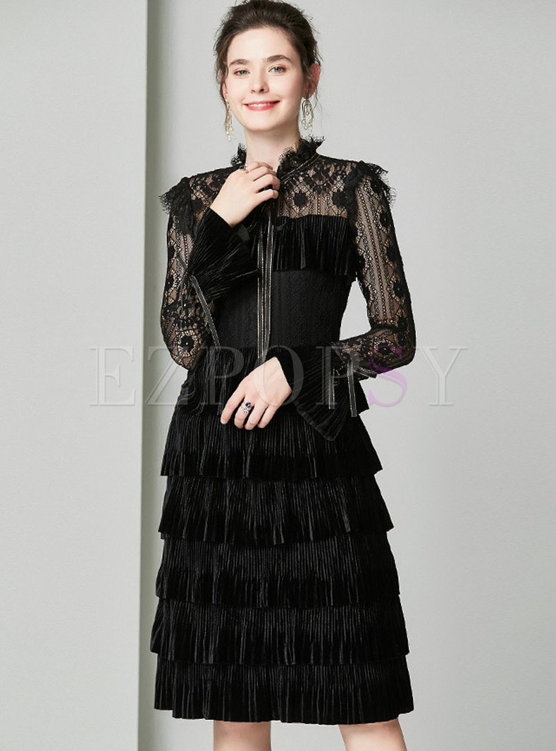 stylish embroidered lace tied