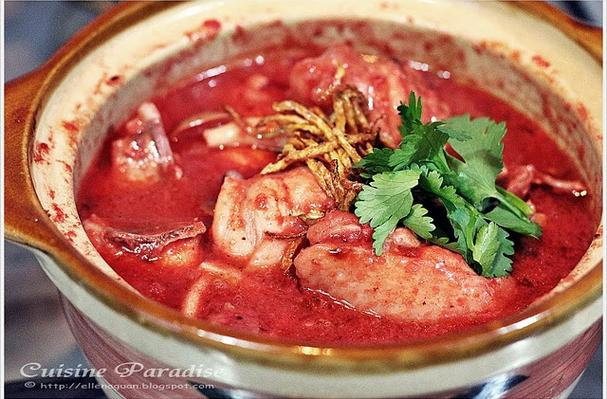 Foodista  Recipes Cooking Tips and Food News  Chicken With Red Glutinous Rice Wine Lees