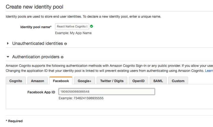 使用React Native 與Amazon Cognito 實作Google & Facebook 登入