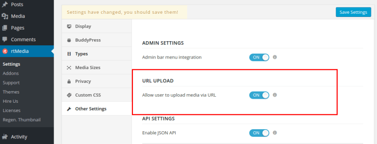 upload url setting