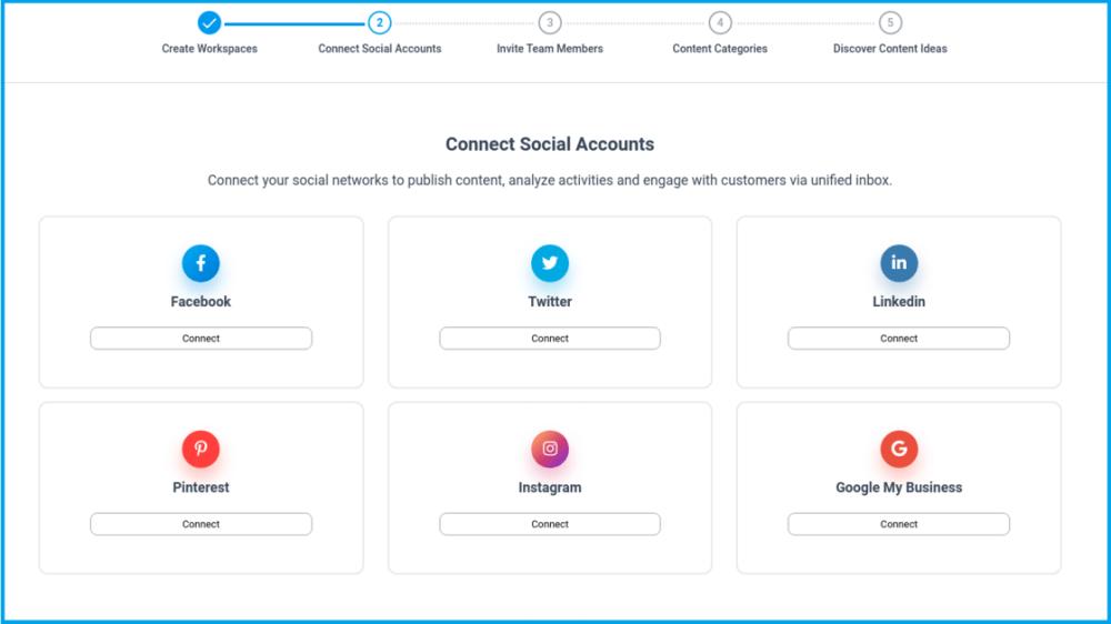 connect social account contentstudio