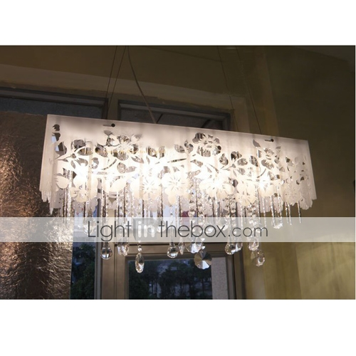 Rectangular Fabric Shade Lighting Fixture