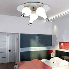 Modern Flush Mount with 3 Lights in Round (G4 Bulb Base)