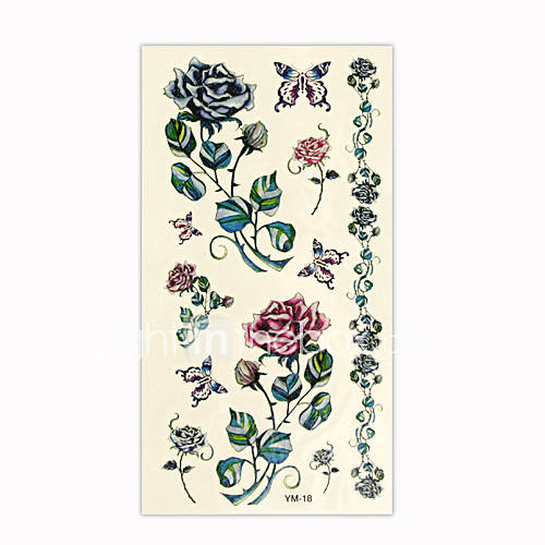 You are looking at a Hot Glitter Temporary Tattoo Card including various of