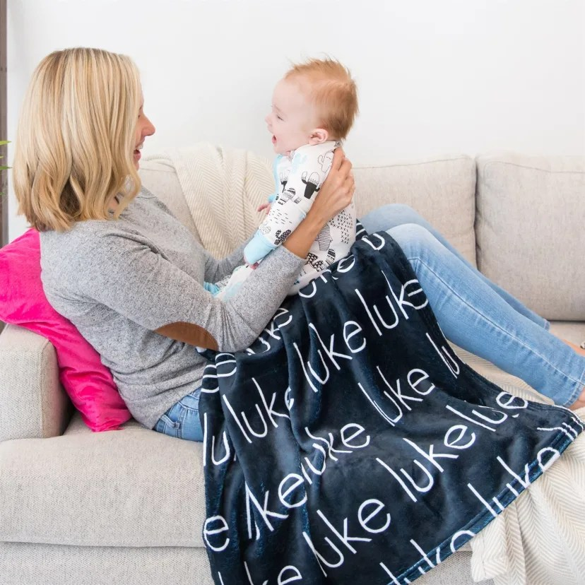 personalized baby toddler blanket