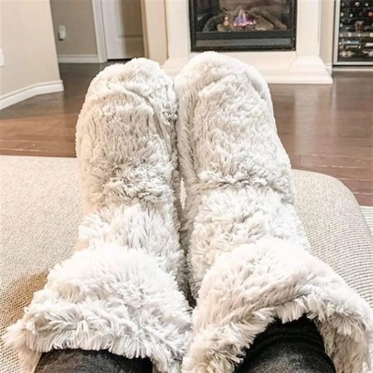 Warmies Marshmallow Heatable Boots
