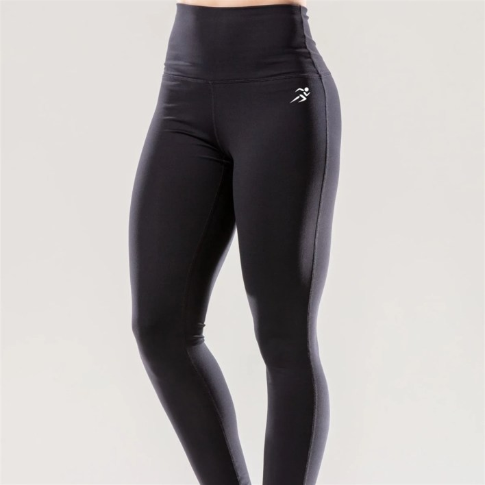 Puissante High-Waisted Full-Length Black Leggings   Small Size