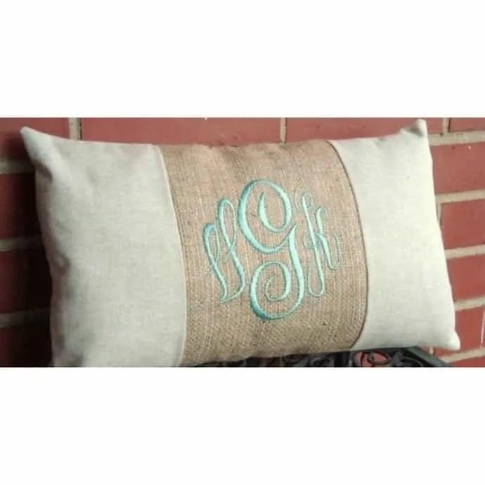 12x16 monogram lumbar pillow