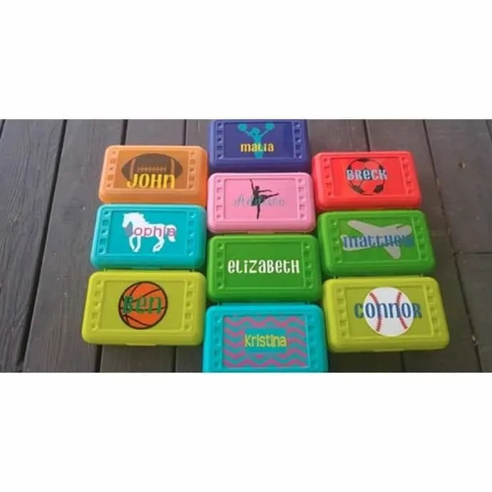 personalized pencil boxes back