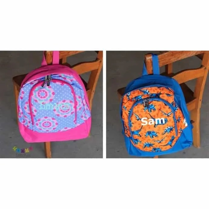 personalized toddler preschool backpack