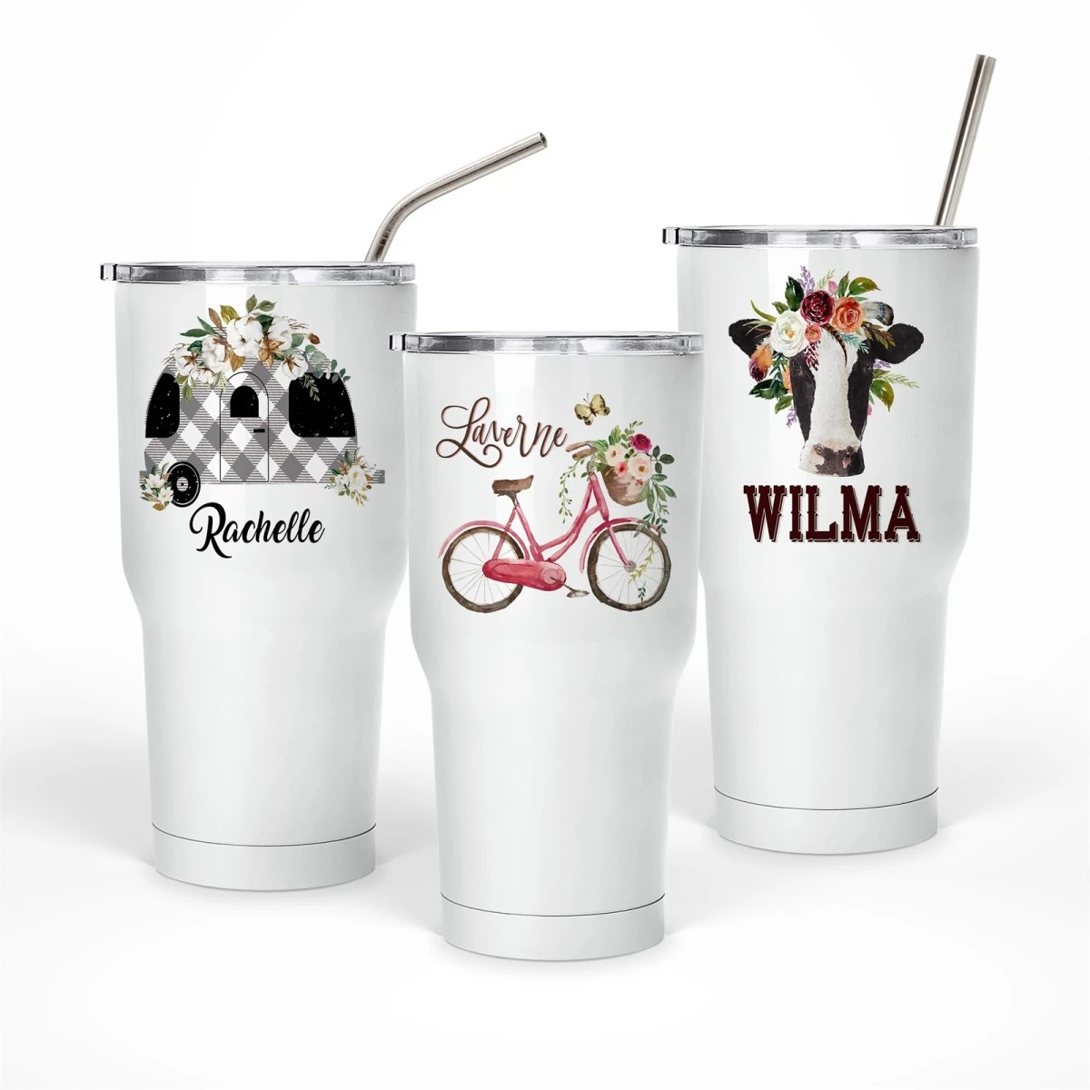 personalized large thermos tumblers
