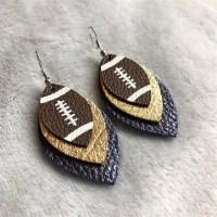 Faux Leather Football Earrings | Jane