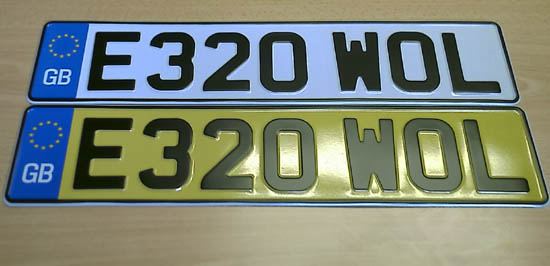 New Number Plates
