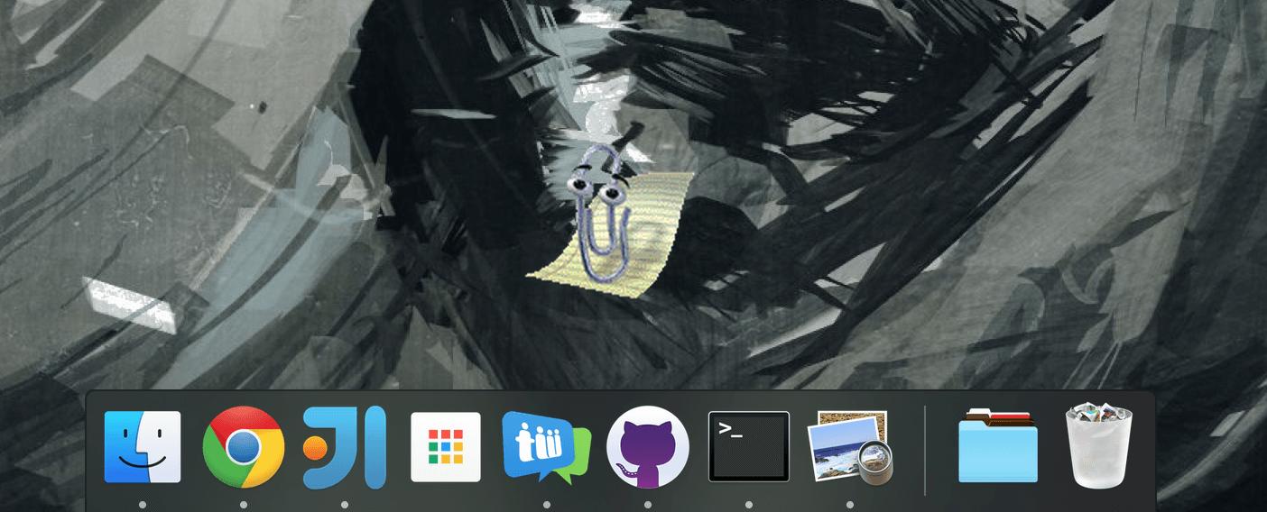 hight resolution of screenshot of clippy desktop on macos