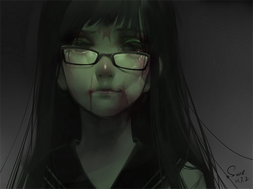 Scary Anime Boy 1080x1080
