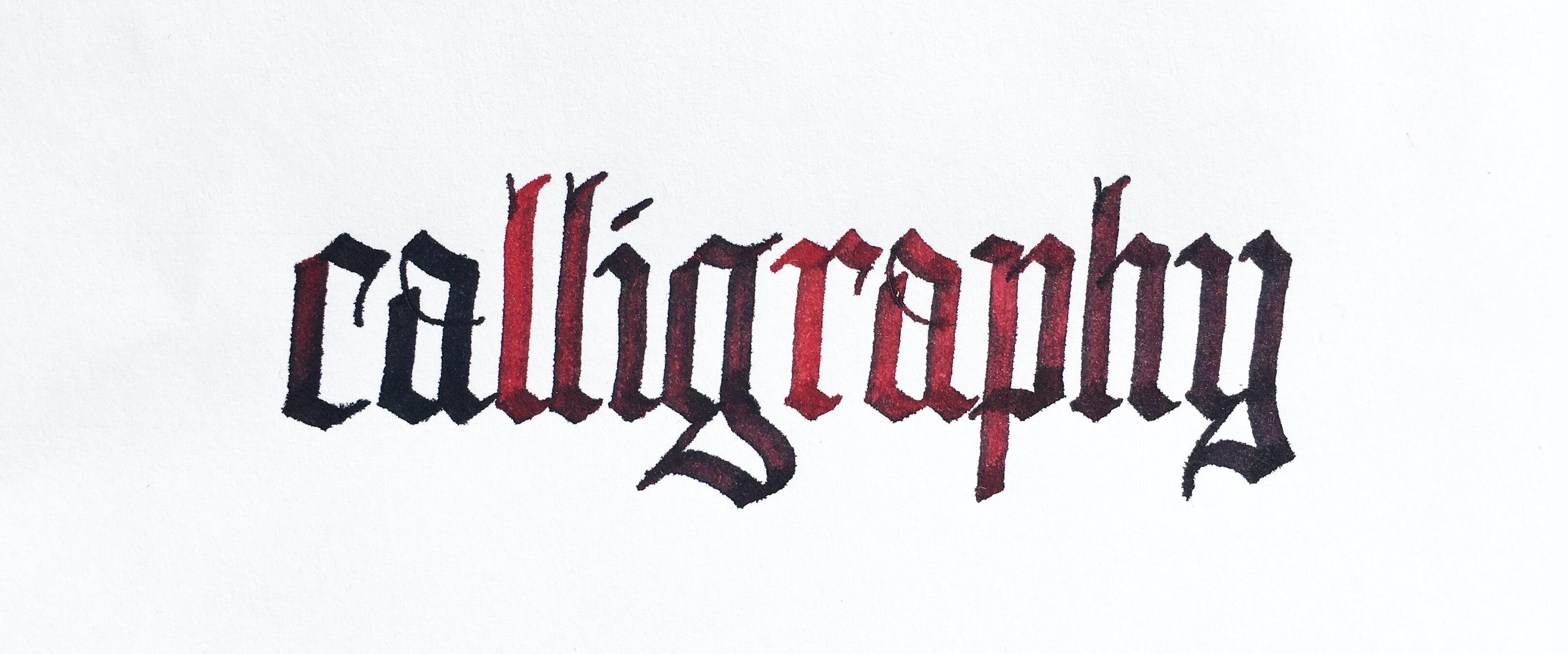 Textura Quadrata Typeface And Calligraphy