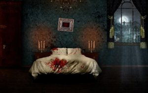 horror creepy wallpapers hand bed lab picked blood smashing magazine
