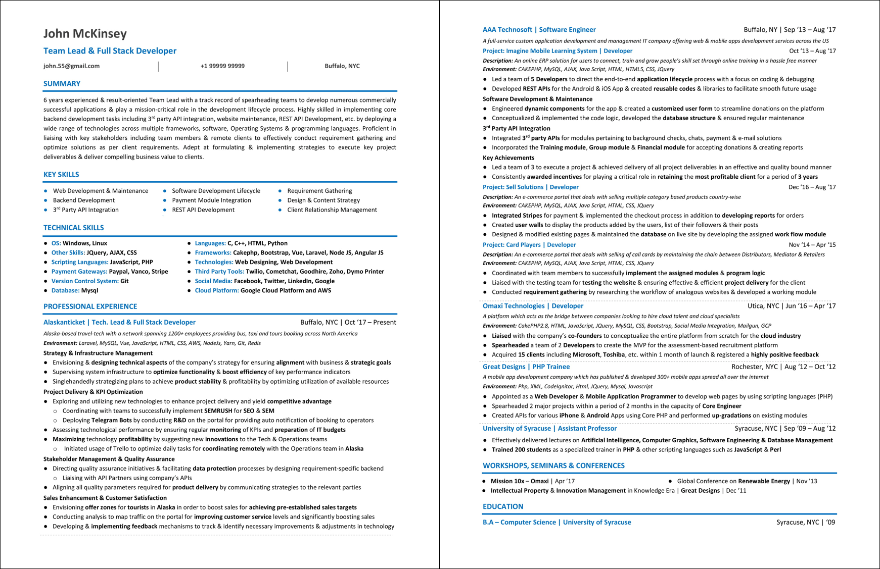 Junior Web Developer Resume How To Craft The Perfect Web Developer Résumé Smashing Magazine