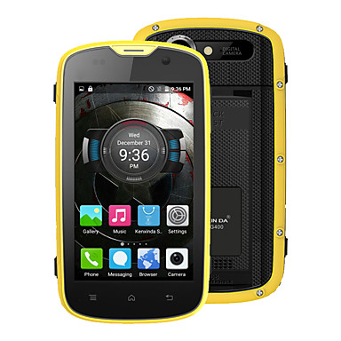 "Kenxinda PROOFINGS W5 4.0 "" Android 5.1 4G Smartphone (Dual SIM Quad Core 5 MP 1GB + 8 GB Grey / Yellow)"