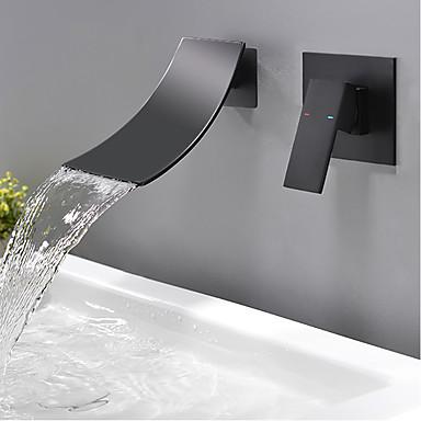 bathroom sink faucet wall mount waterfall black wall mounted single handle two holesbath taps 7731026 2021 153 74