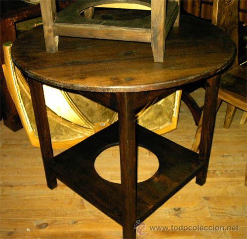mesa camilla de madera maciza medida 90 cm de  Comprar Mesas Antiguas en todocoleccion  26145115