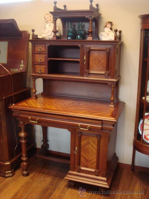 antiguo mueble alfonsino de madera de caobares  Comprar