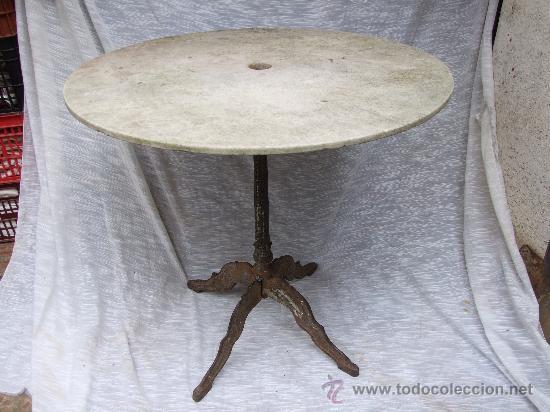 Mesa de jardin bar en hierro y marmol  1900  Vendido en Venta Directa  27193016