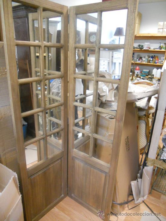 Biombo de madera con espejos  Vendido en Venta Directa