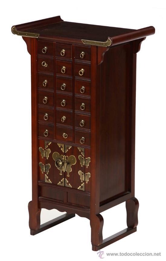 mueble contador oriental con muchos cajones  Comprar
