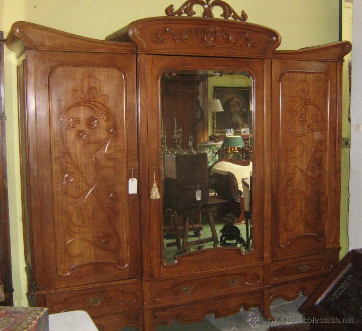 armario modernista antiguo de cerezo  Comprar Armarios
