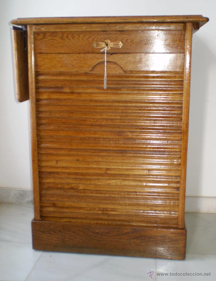 antiguo mueble de persiana en roble americano  Comprar