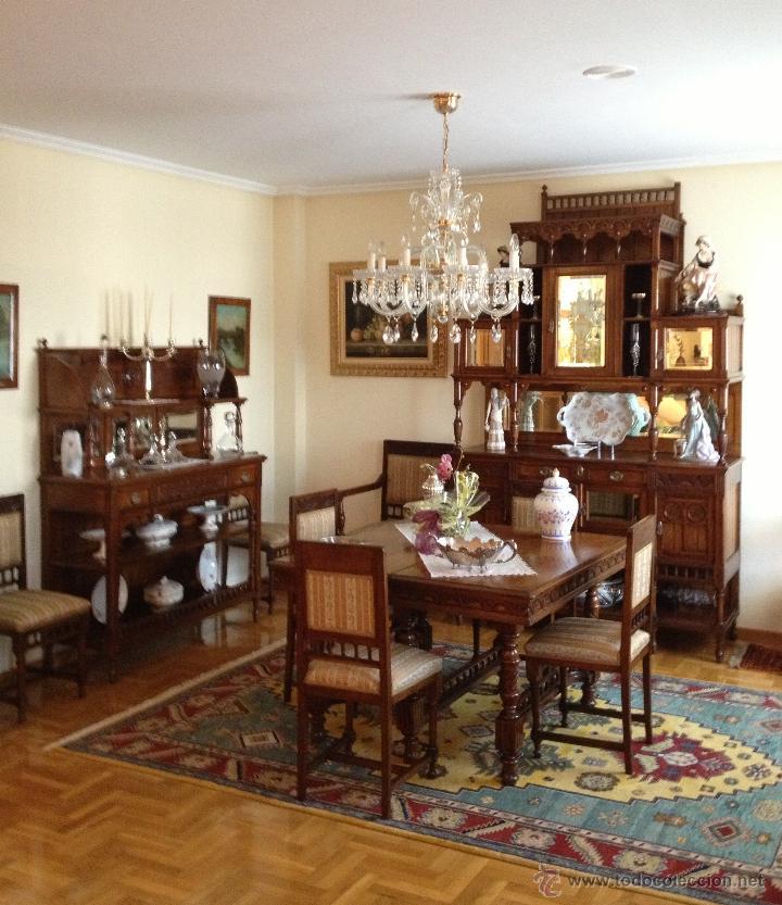 conjunto muebles comedor madera cerezo princi  Comprar Aparadores Antiguos en todocoleccion  42432605