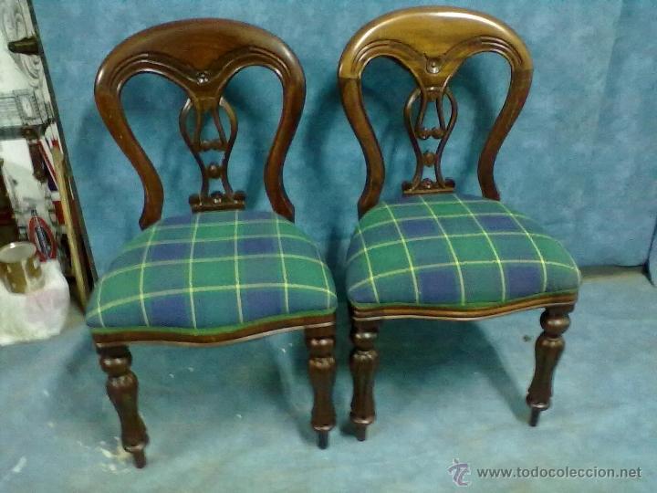 reproduccion de dos sillas victorianas sin epoc  Comprar