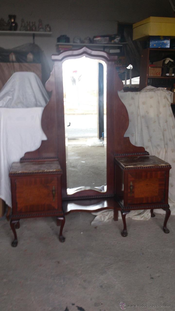 antiguo mueble tocador con espejo con 2 puerta  Comprar