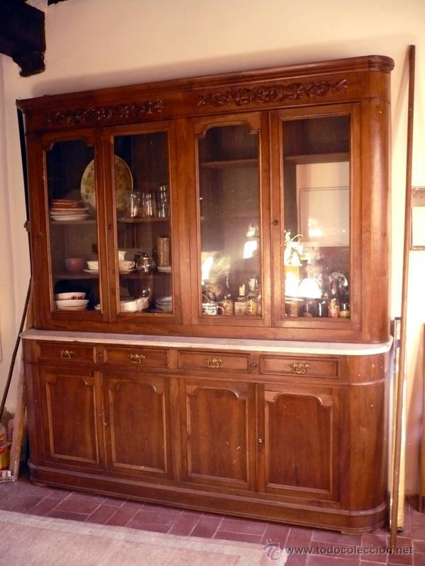 impresionante mueble aparador nogal antiguo de  Comprar