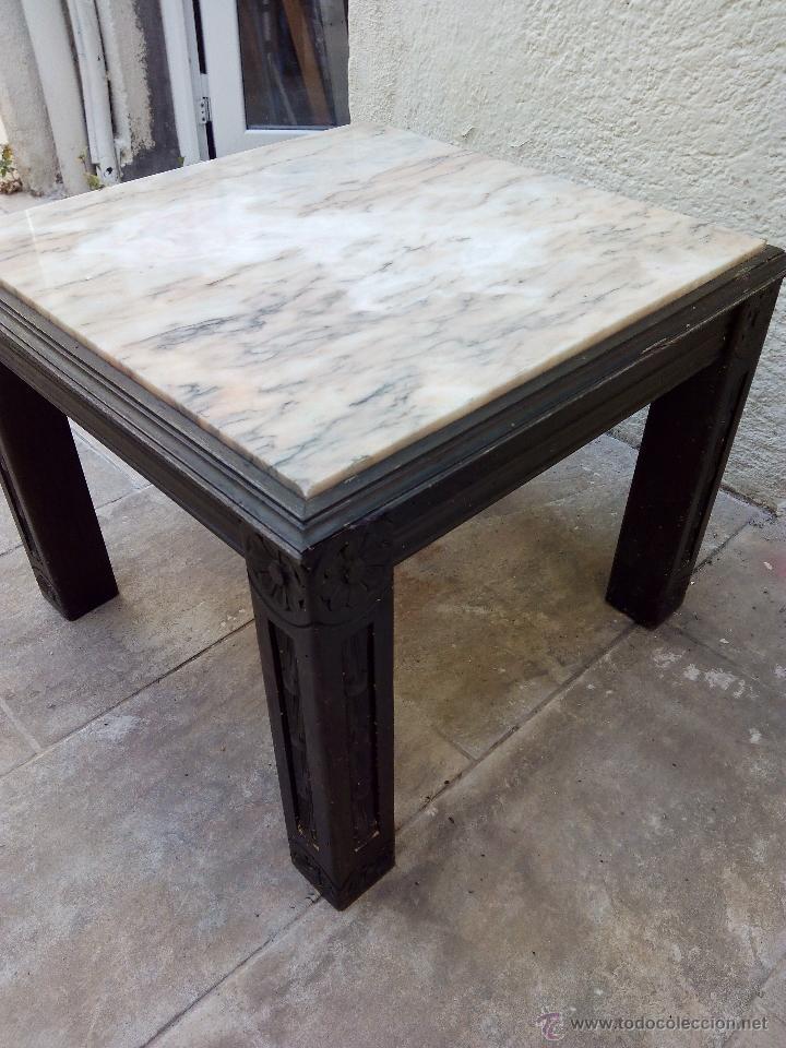 mesa de mrmol y madera  Comprar Mesas Antiguas en