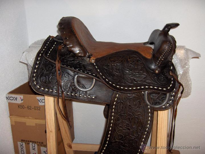 silla de montar con grabados antigua  Comprar Caballera