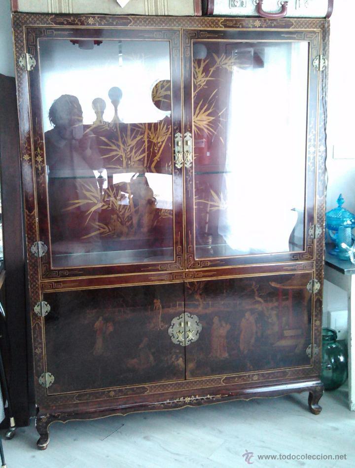 mueble aparador vitrina oriental mid century vi  Comprar