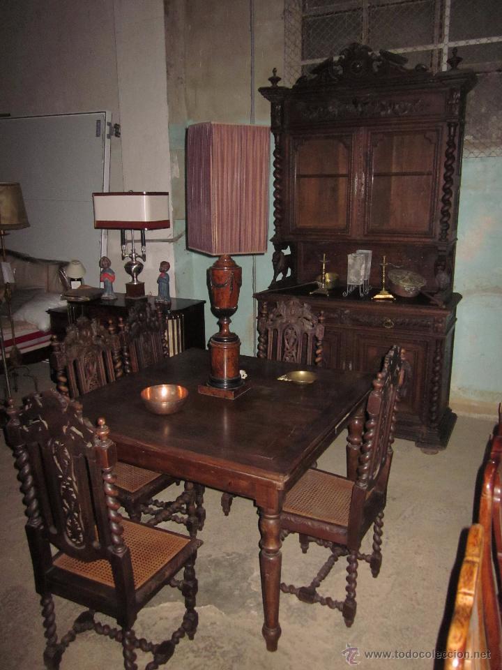 conjunto de comedor antiguo de madera de roble  Comprar Armarios Antiguos en todocoleccion  54259455