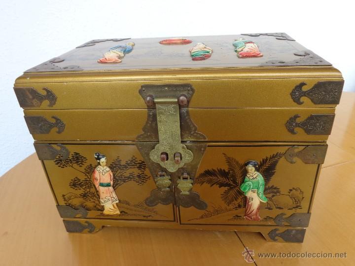 Gran caja joyero cabinet  mueble tocador  ch  Vendido