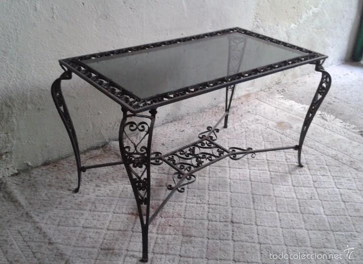 mesa antigua hierro forjado estilo luis xv mes  Comprar