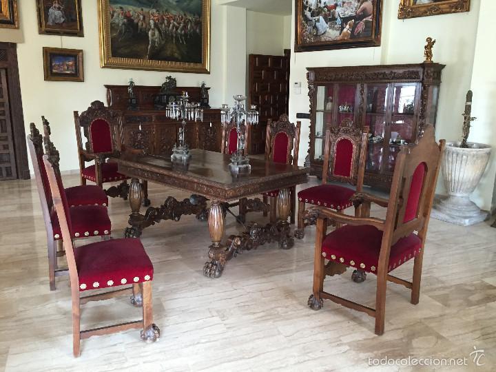 comedor antiguo renacimiento nogal  Comprar Mesas Antiguas en todocoleccion  57058270