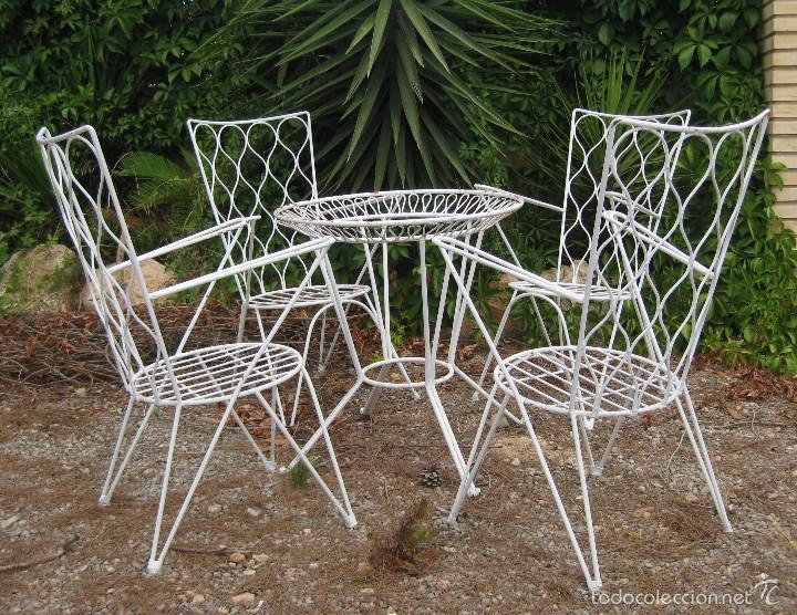 mesa antigua hierro forja vintage jardin terraz  Comprar