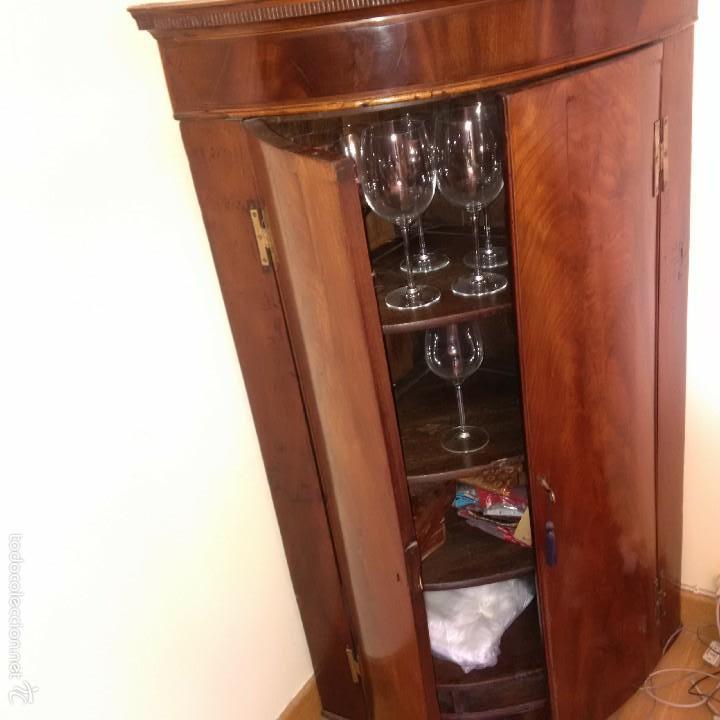 mueble esquinero de caoba  Comprar Muebles Auxiliares Antiguos en todocoleccion  58624351