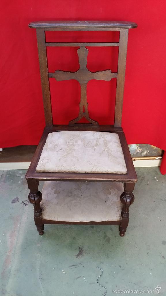 antiguo reclinatorio restaurado a gom  Comprar Sillas