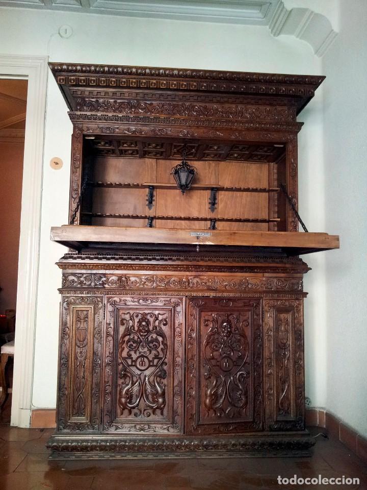 mueble bar tallado principios del siglo xx  Comprar