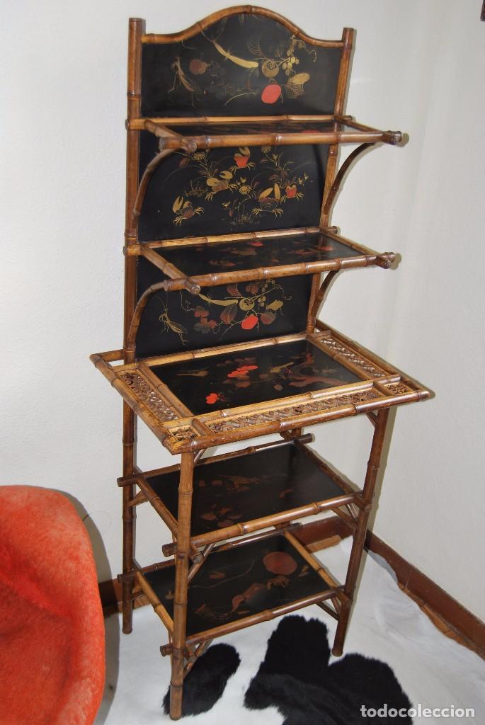 estantera victoriana  bamb y madera lacada   Comprar